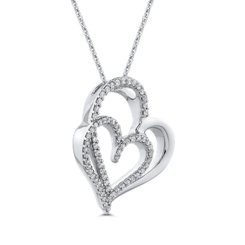1/4 Ct Diamond Heart Pendant with Chain