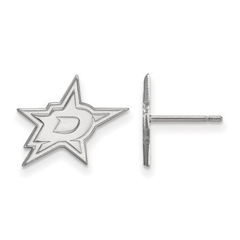 Sterling Silver Dallas Stars NHL Earrings