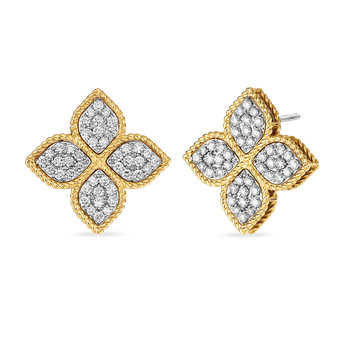 Large Stud Earrings With Diamonds