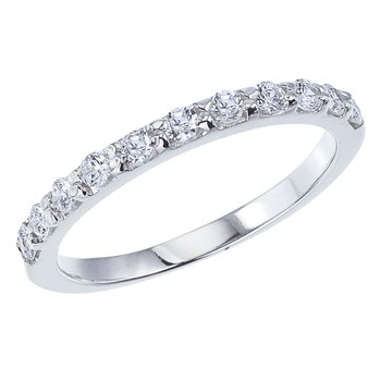 14K White Gold .55 ct Diamond Band Ring