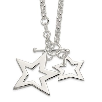 Sterling Silver Fancy Stars Necklace