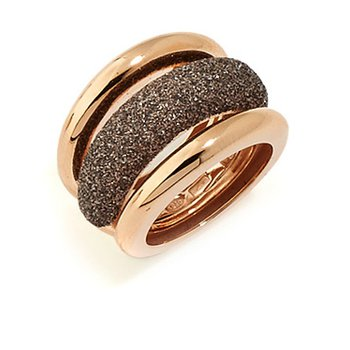 Large Polvere Di Sogni Combo Ring - Antelope & Rose Gold