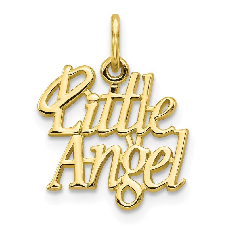 Quality Gold 10k LITTLE ANGEL with Halo Charm