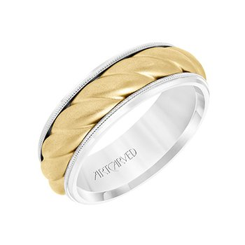14K Two-Tone Oversized Rope Wedding Band