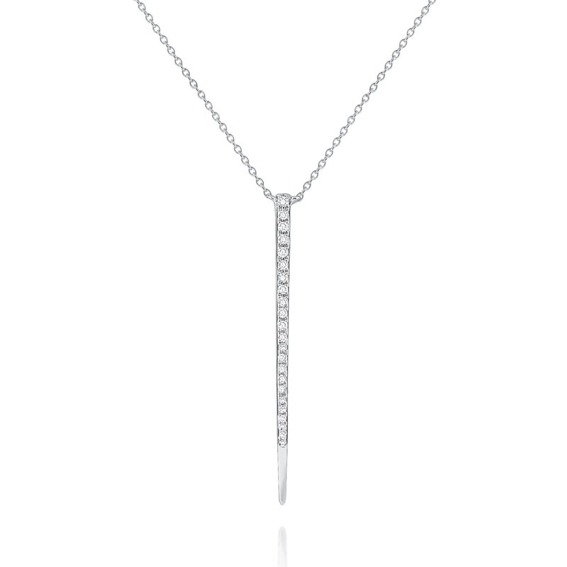 KC Designs Diamond Tapered Line Pendant Necklace Set in 14 Kt. Gold
