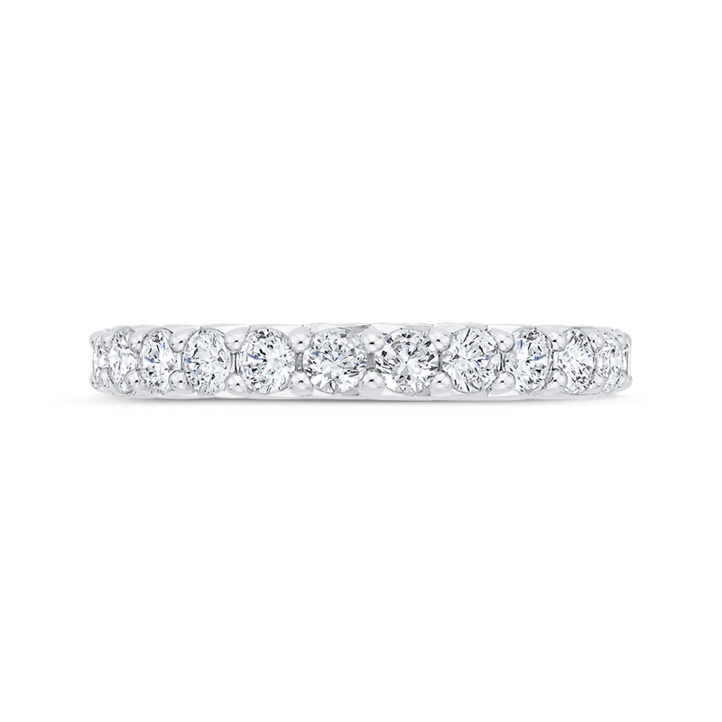 Carizza 14K White Gold Half-Eternity Wedding Band