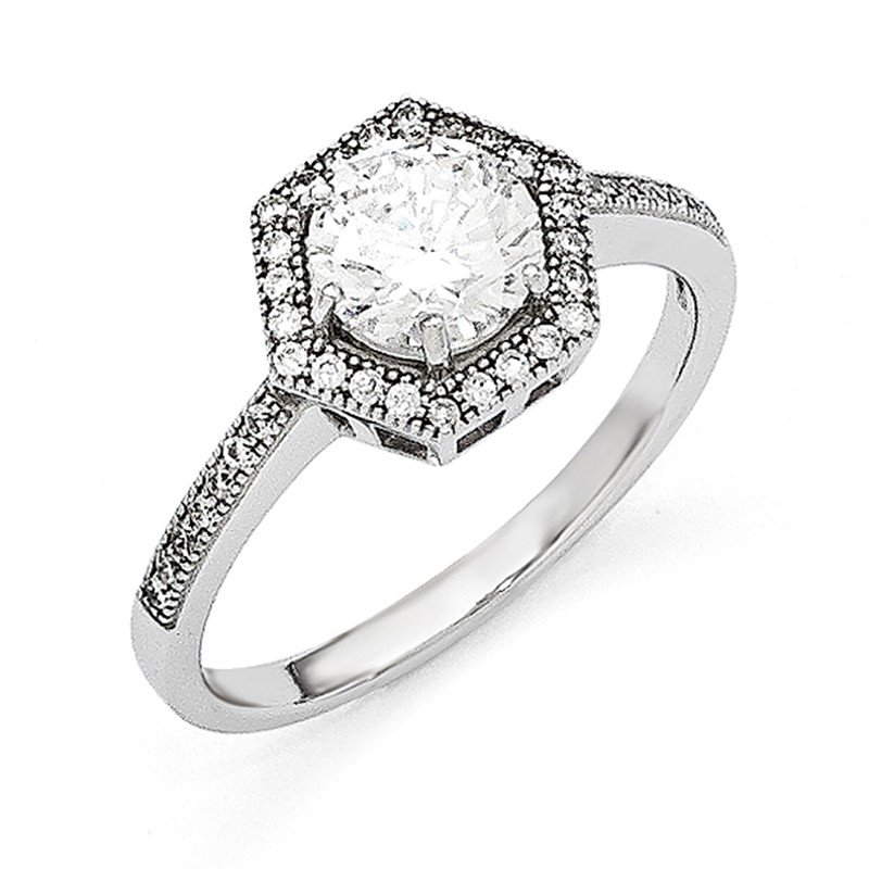 Quality Gold Sterling Silver & CZ Brilliant Embers Ring