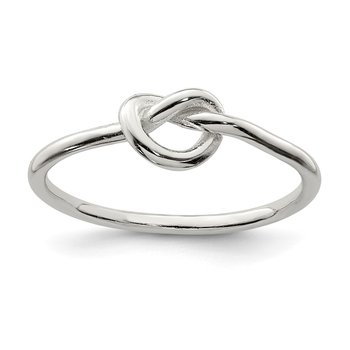 Sterling Silver Polished Knot Ring