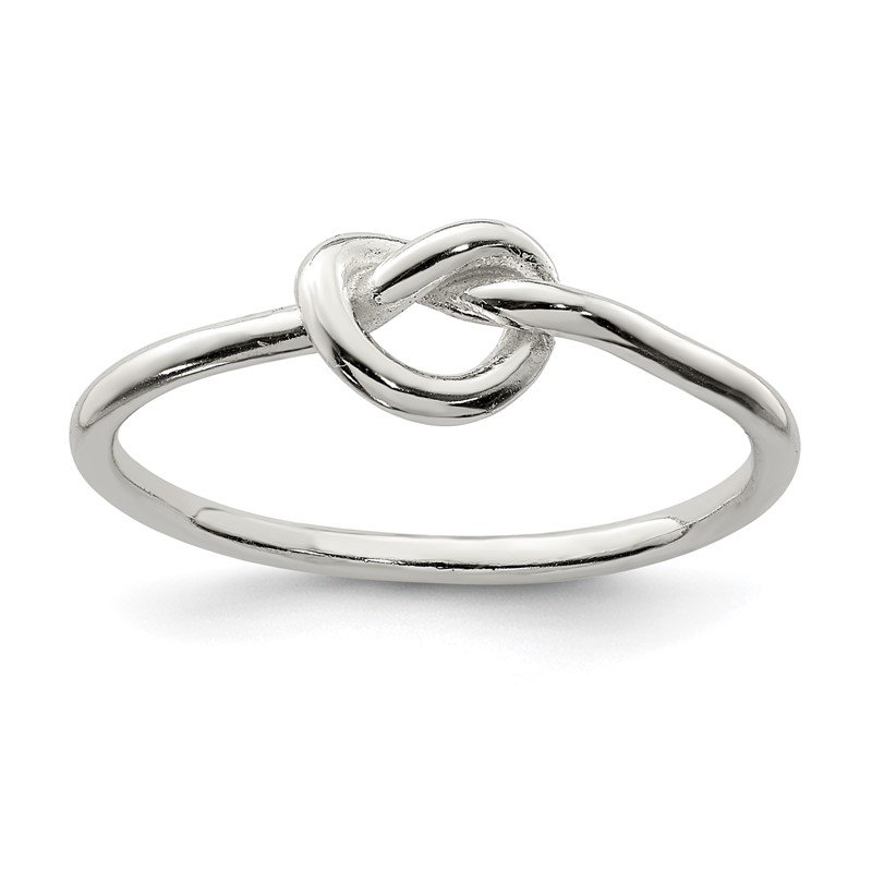 Quality Gold Sterling Silver Polished Knot Ring