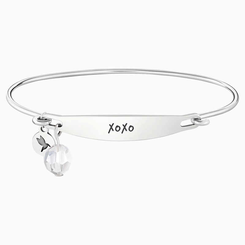 Swarovski XOXO ID Bangle - Silver