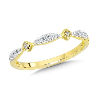 10K Diamond Stackable Band