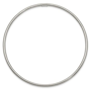 Sterling Silver 2mm Slip-on Bangle Bracelet