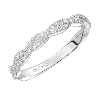 Woven Diamond Wedding Band