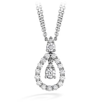 0.8 ctw. Aerial Diamond Drop Necklace