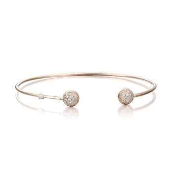 Pink Wire Dew Drop Cuff featuring Pavé Diamonds