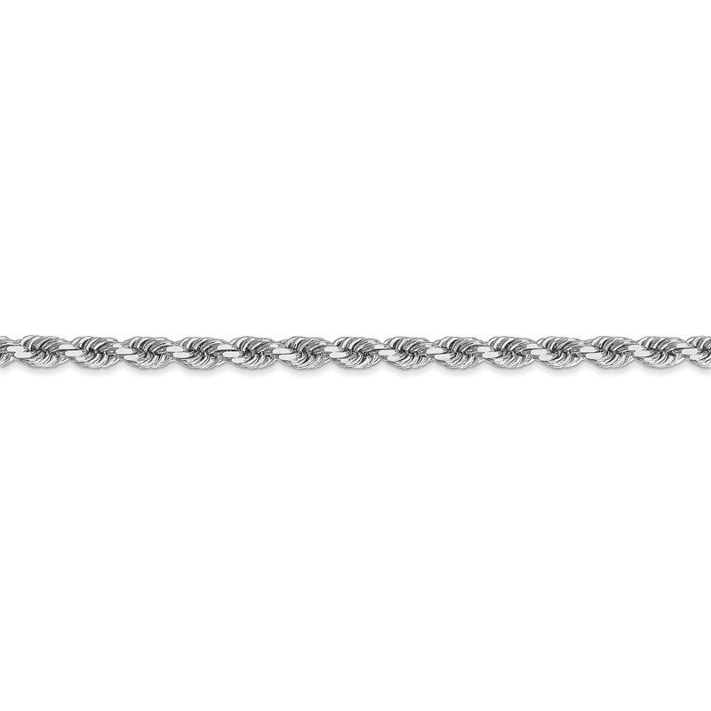 Leslie's Leslie's 14K White Gold 4mm Diamond-Cut Rope Chain