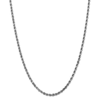Leslie's 14K White Gold 4mm Diamond-Cut Rope Chain