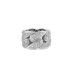 Roberto Coin Gourmette Link Ring With Diamonds