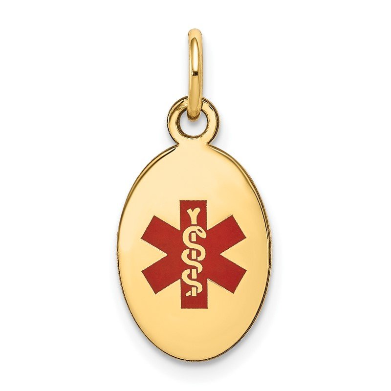 J.F. Kruse Signature Collection  Enamel Medical Jewelry Pendant