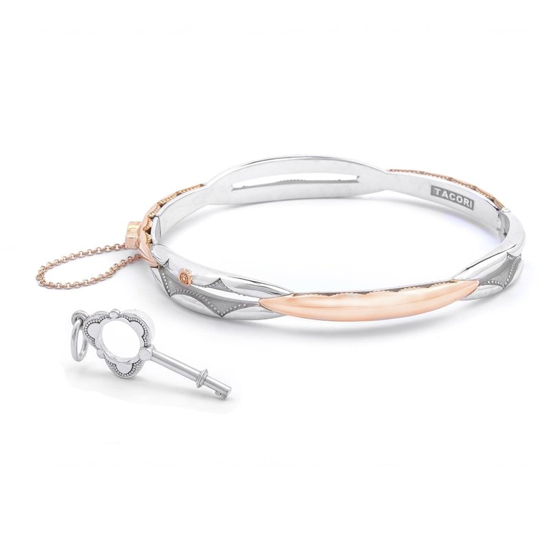 Tacori Fashion Promise Bracelet Oval, Rose Gold and Silver