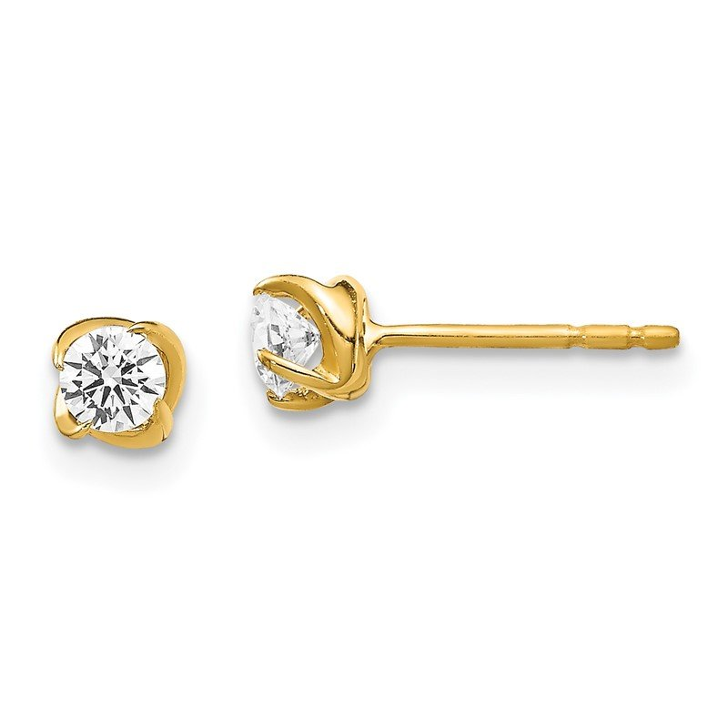 Quality Gold 14k Diamond Post Earrings