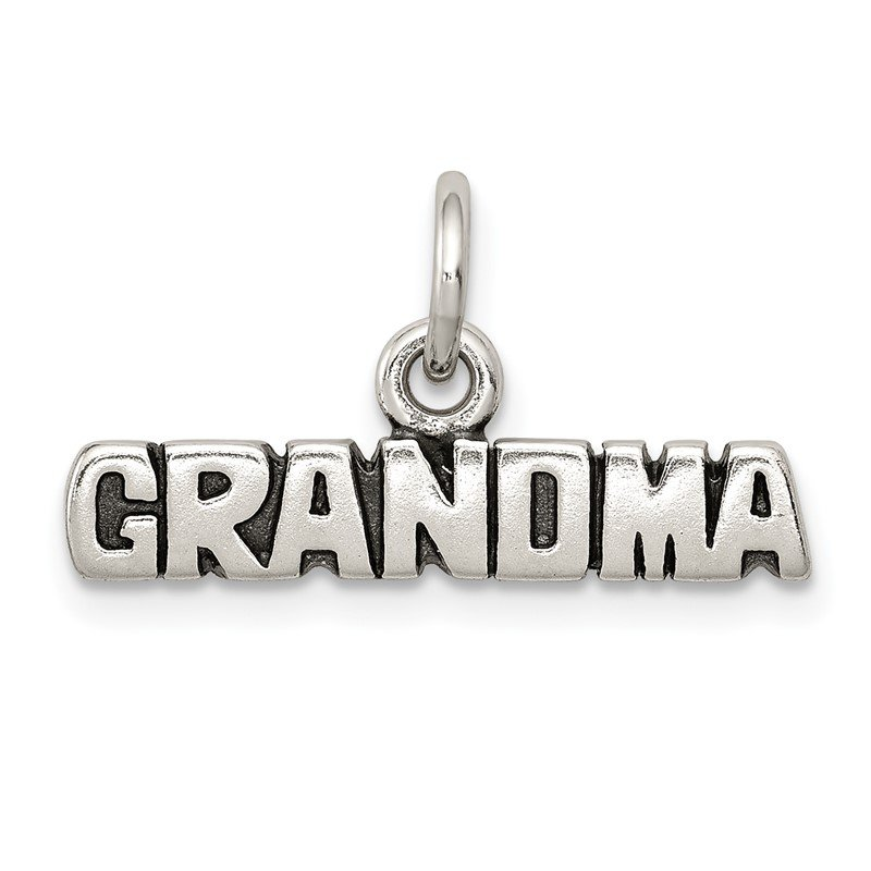 Quality Gold Sterling Silver Antiqued Grandma Charm