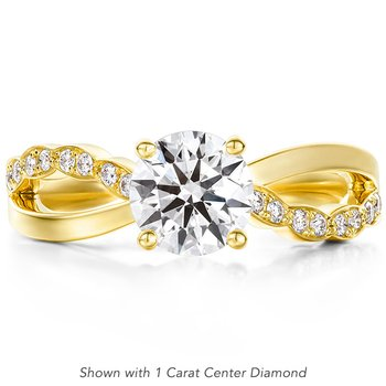 0.1 ctw. Lorelei Diamond Twist Engagement Ring