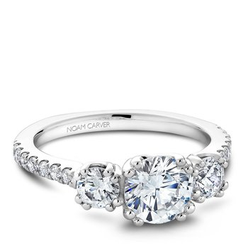 Noam Carver 3 Stone Engagement Ring B001-05A