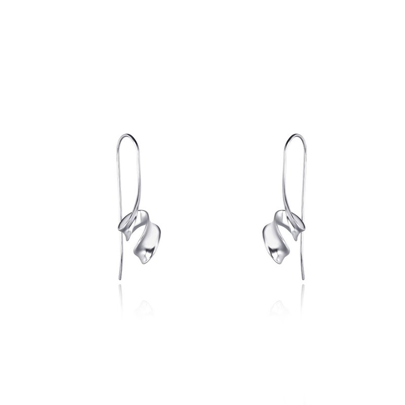 LARUS Jewelry Spiralling Ribbon Earrings