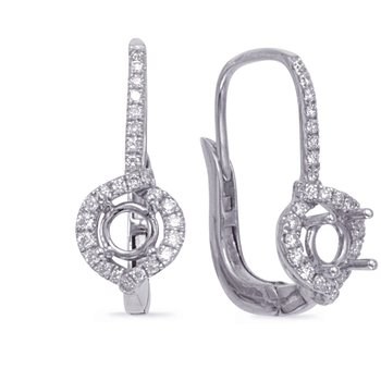 Hallo Earring Setting For .50ct