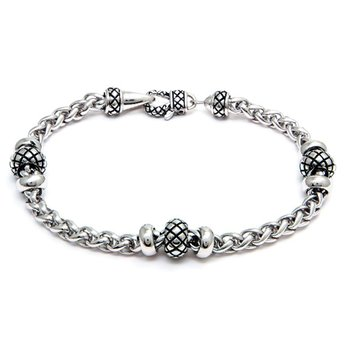 Sterling Silver Wheat Link Bracelet