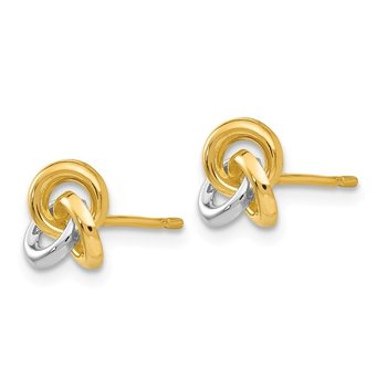 14k & Rhodium Trinity Knot Earrings