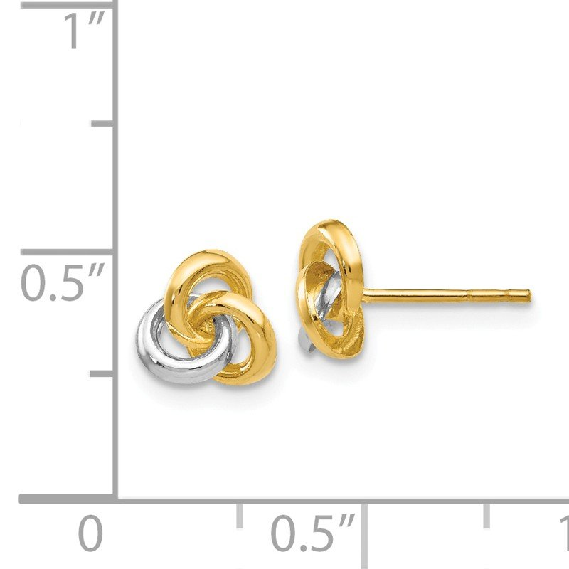 Quality Gold 14k & Rhodium Trinity Knot Earrings