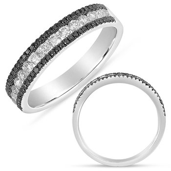 Black & White Diamond Fashion Band