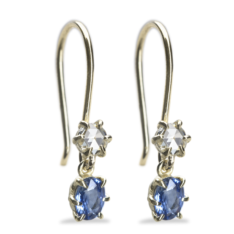 ILA Primary Blue Sapphire and Diamond Earrings