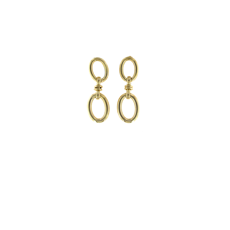 Roberto Coin 18Kt Gold Large Oval Drop Earrings