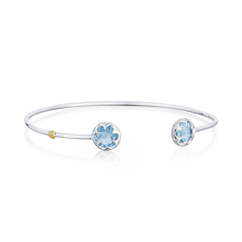 Tacori Fashion Crescent Bezel Cuff featuring Sky Blue Topaz