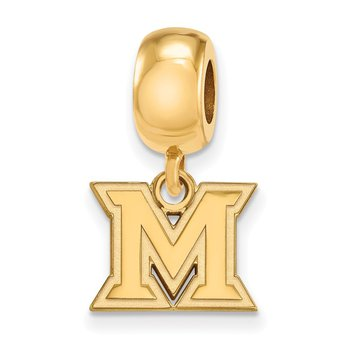 Gold-Plated Sterling Silver Miami University NCAA Bead