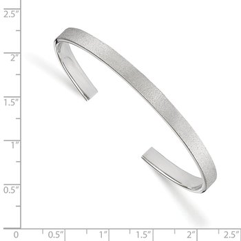 Leslie's Sterling Silver Radiant Essence Cuff Bangle
