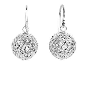 Silver Bead Bird Nest Drop Earring