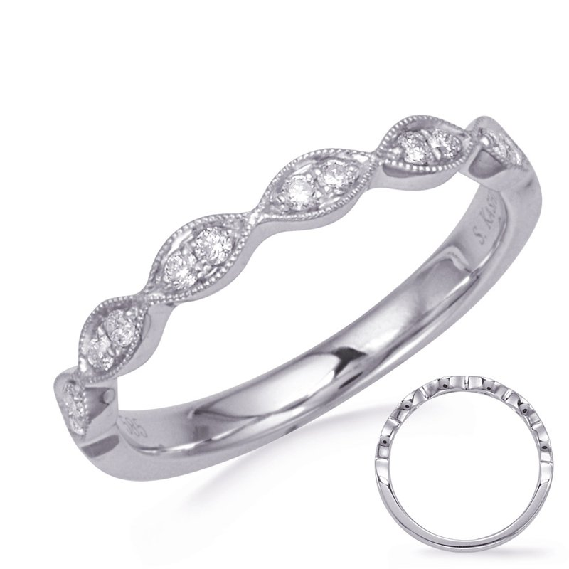 MAZZARESE Bridal White Gold Wedding Band
