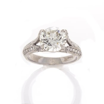 BRILLIANT CUT DIAMOND RING 2.44 CT