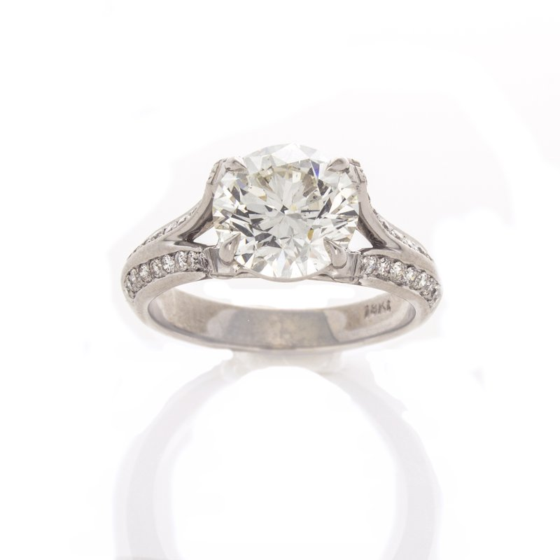 William Levine BRILLIANT CUT DIAMOND RING 2.44 CT