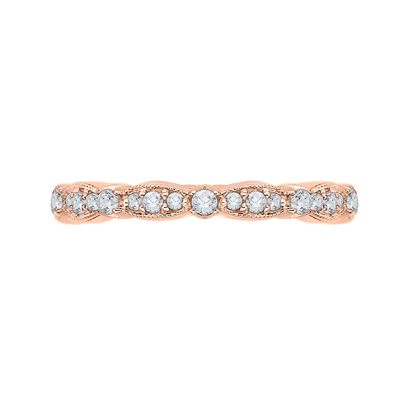 Carizza 18K Pink Gold Carizza  Wedding Band
