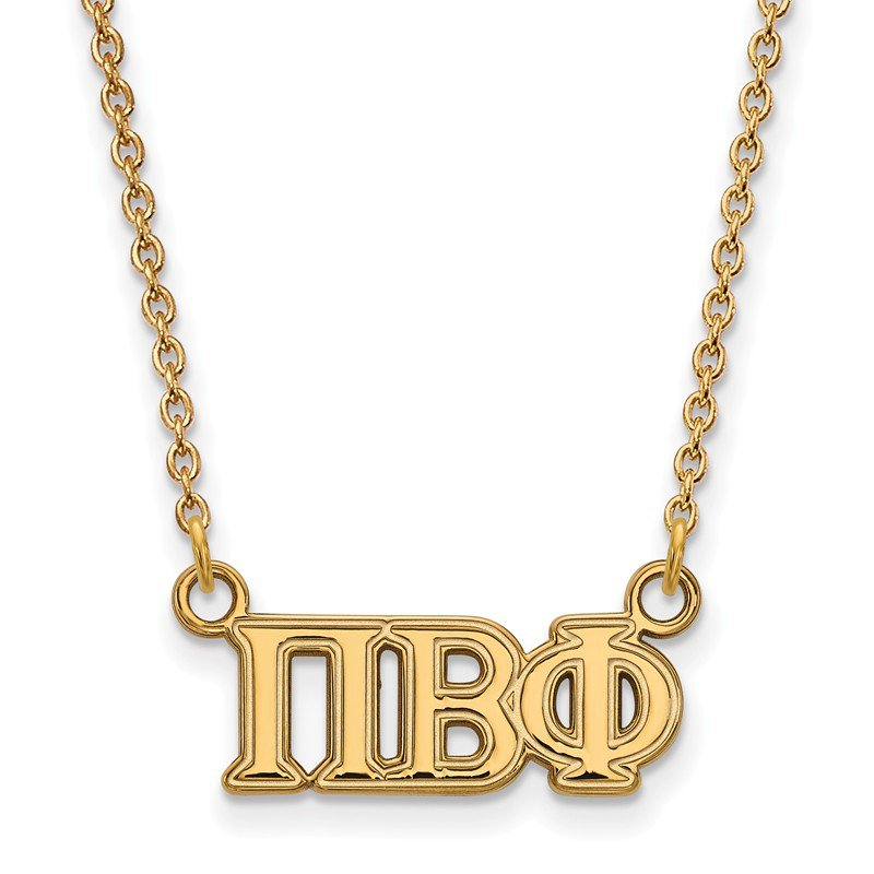Greek Life Gold-Plated Sterling Silver Pi Beta Phi Greek Life Necklace