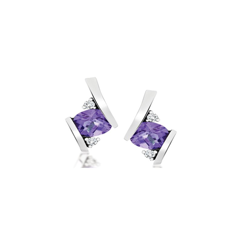 Diamond Wishes Amethyst Earring