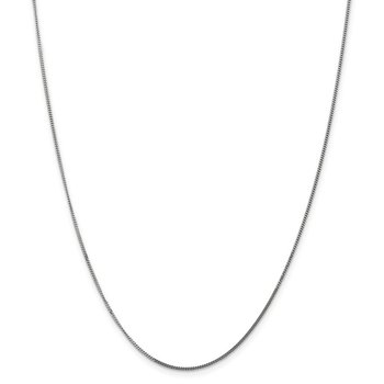 14k WG 1.3mm Curb Pendant Chain