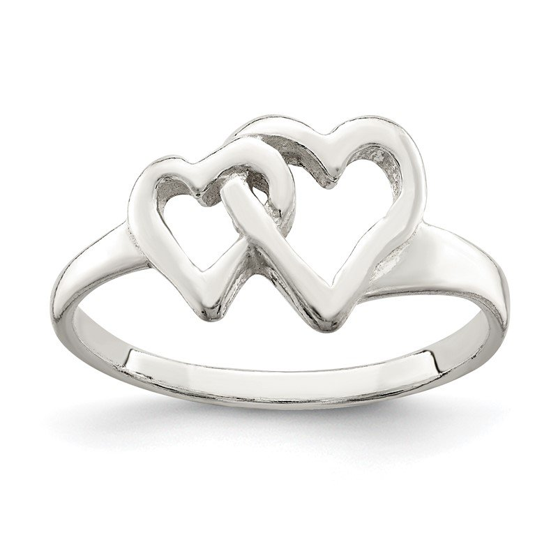 J.F. Kruse Signature Collection Sterling Silver Heart Ring