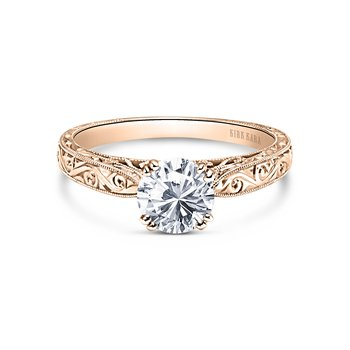 Engraved Vintage Inspired Engagement Ring