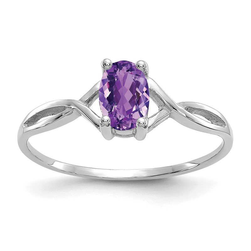 Quality Gold 14k White Gold Amethyst Birthstone Ring